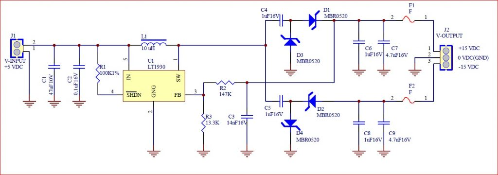 Schematic step up Voltage